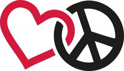 Plakát Lásky a míru znamení propletené