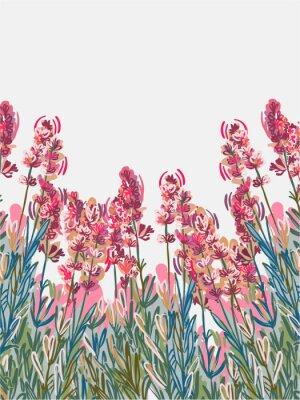 Plakát lavender vecor background pink flower card colorful