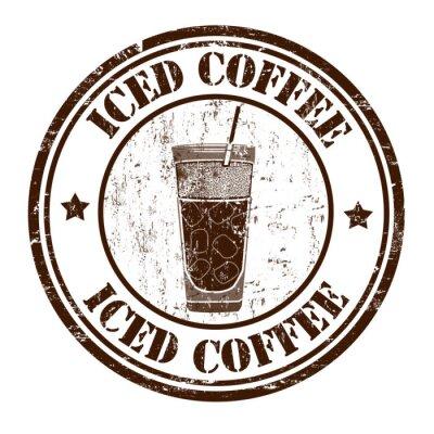 Plakát Ledová káva razítko