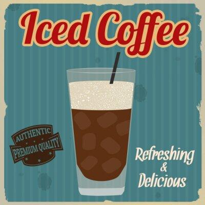 Plakát Ledová káva retro plakát