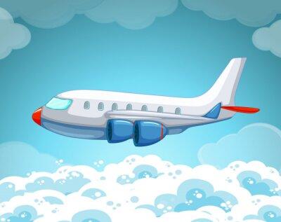 Plakát Letadlo letí na obloze