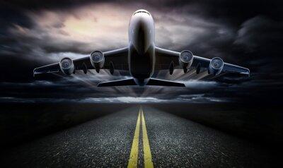 Plakát Letadlo na ranveji