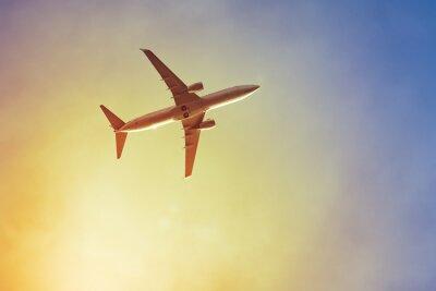 Plakát letadlo západ slunce