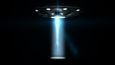Plakát létající talíře UFO unesl muže
