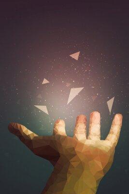 Plakát Lidé jsou silnější, než si myslí, že vaše ruka může léčit nebo objektivní létat ve vzduchu