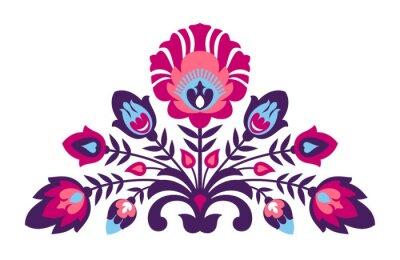 Plakát Lidová papercut styl květiny