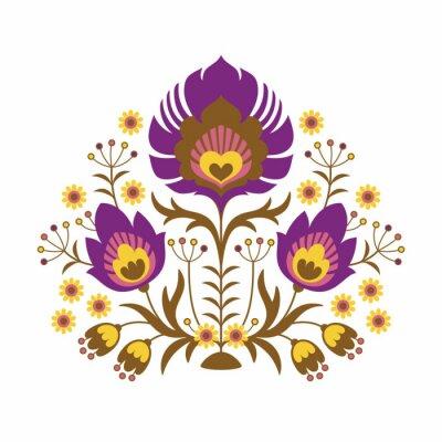 Plakát Lidová papercuts - Květiny