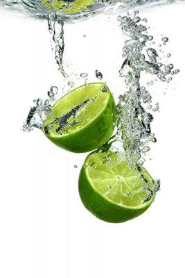 Plakát Lime s vodní kapky