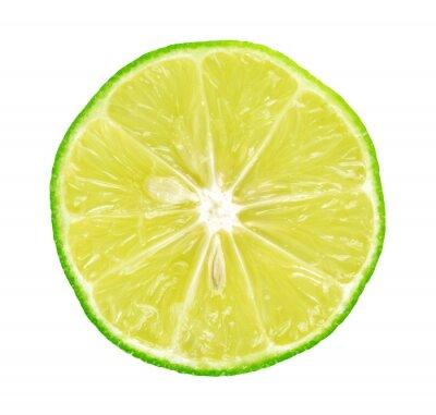 Plakát Limes s plátky na bílém pozadí