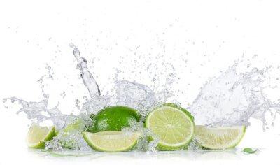 Plakát Limes s stříkající vodě