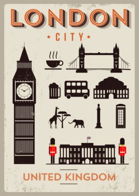 Plakát London City Poster design