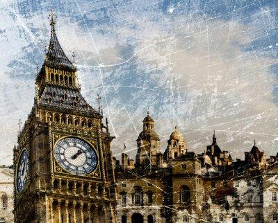 Plakát London Skládání Vintage