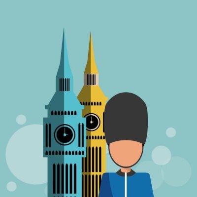 Plakát Londýn ikony designu