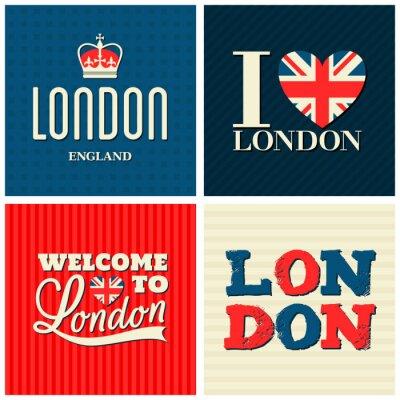 Plakát Londýn karty Sbírka