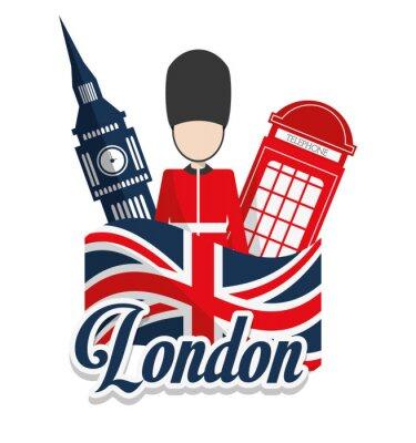 Plakát Londýn památky designu