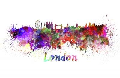 Plakát Londýn panorama v akvarelu