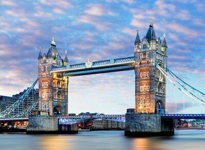 Plakát Londýn, Tower Bridge