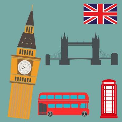 Plakát Londýn Vector Graphics