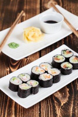 Plakát Maki sushi set