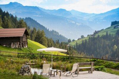 Plakát Malebné Relaxační Point k relaxaci v Alpách