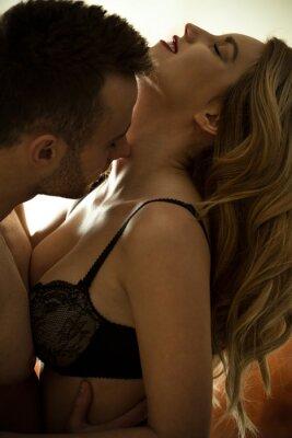 Plakát Man kissing neck