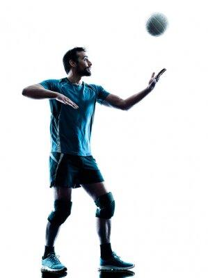 Plakát man volejbalové silueta