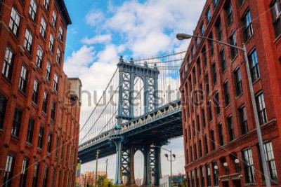 Plakát Manhattan Bridge seen from Dumbo, Brooklyn, New York City