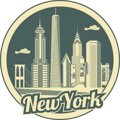 Plakát Manhattan skyline