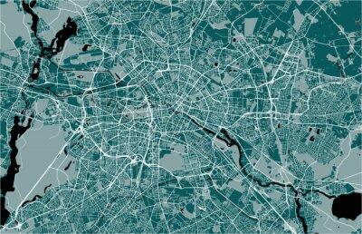 Plakát mapa města Berlín, Německo