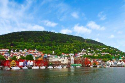 Plakát Město Bergen, Norsko