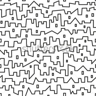 Plakát město - bezešvé vektorový vzor