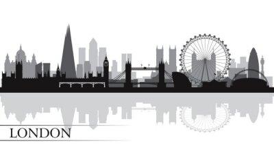 Plakát Město Londýn panorama silueta na pozadí