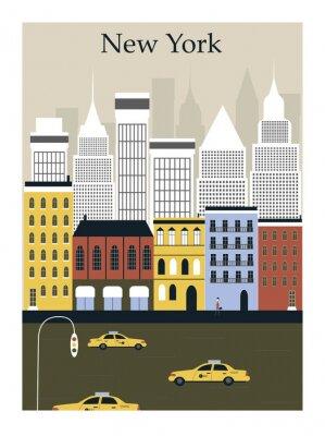 Plakát Město New York. Vektor