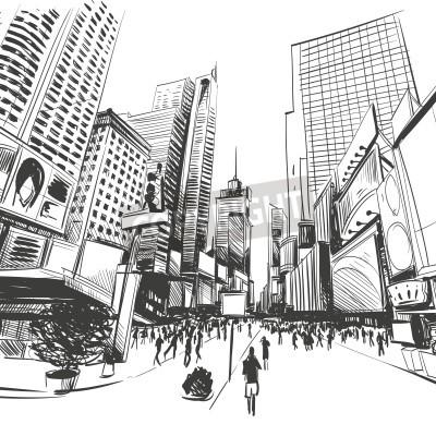 Plakát Město ručně kreslenými, vektorové ilustrace