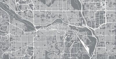 Plakát Městská vektorová mapa města Calgary, Kanada