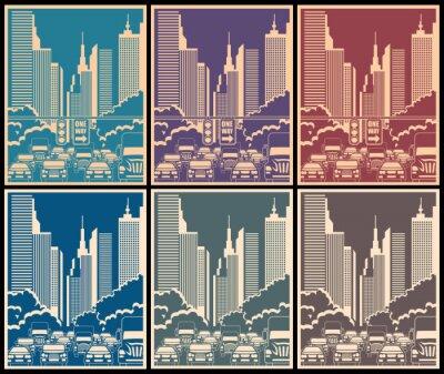Plakát městských ulic