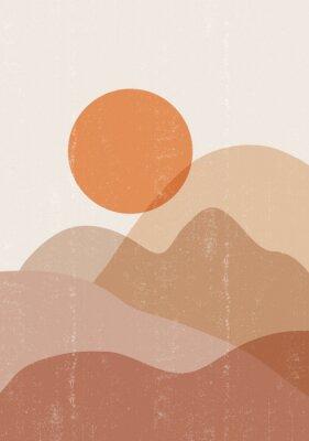 Plakát Mid century sunset print boho minimalist printable wall art
