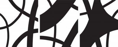 Plakát minimalist Organic abstract art mid century modern style black and white artwork templates vector set