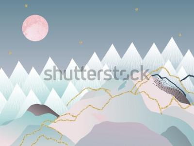 Plakát Minimální geometrické pozadí abstraktní. Japonský design. Vektorové ilustrace. Mramorový design