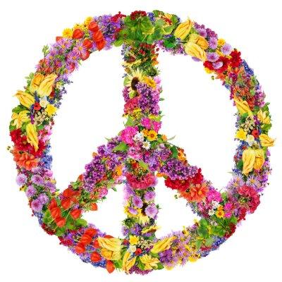 Plakát Mír květina symbol