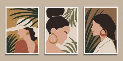 Plakát Modern art prints in boho style. Eps10 vector.