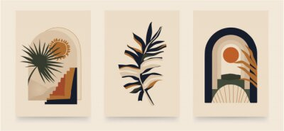 Plakát Modern minimalist abstract aesthetic illustrations. Bohemian style wall decor. Collection of contemporary artistic posters.
