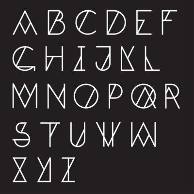 Plakát Moderní geometrické abeceda