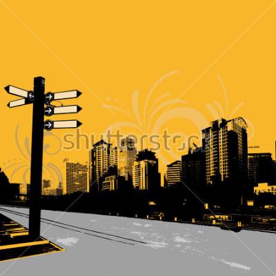 Plakát moderní grunge městský grafický design