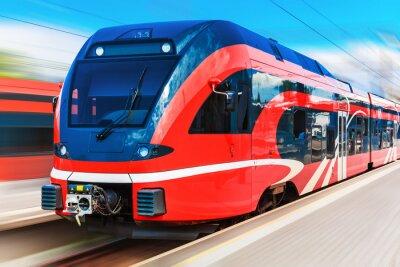 Plakát Moderní vysokorychlostní vlak