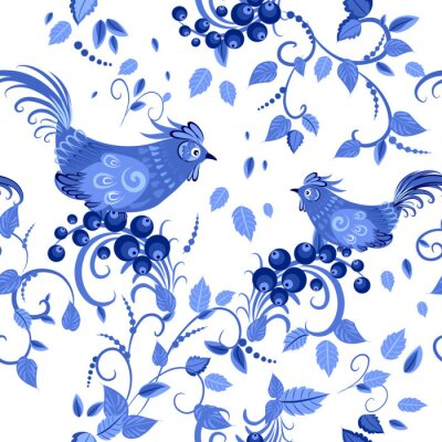 Plakát módní bezešvé textury se stylizovanými květy