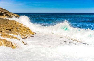 Plakát Mořská voda vlny pěna rock Surf