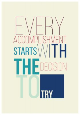 Plakát Motivační plakáty pro dobrou začátku