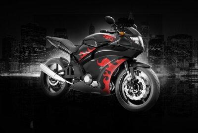 Plakát Motocykl Motocykl Bike Riding Rider Contemporary Concept