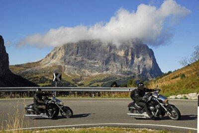 Plakát Motocykl na obchvatu Passo Gardena